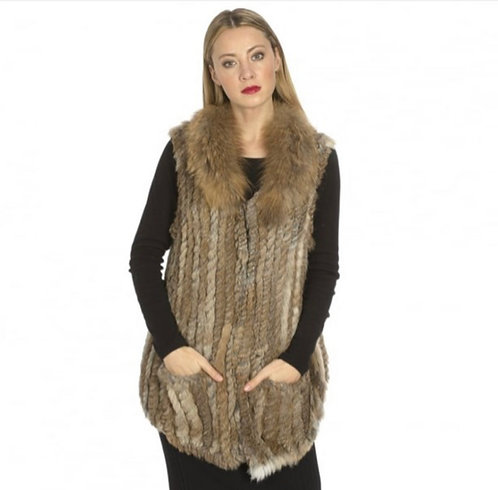 Fox Fur & Coney Fur Collar Gilet