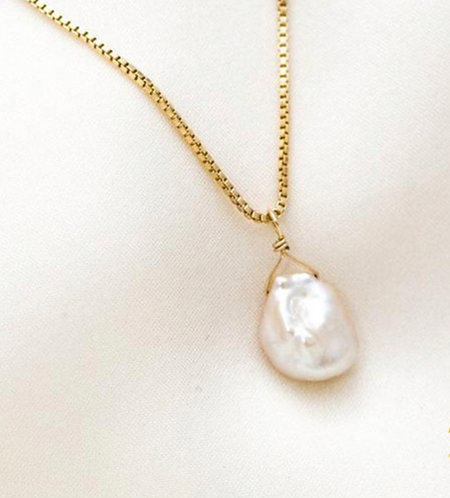 Baroque Real Pearl Pendant Necklace