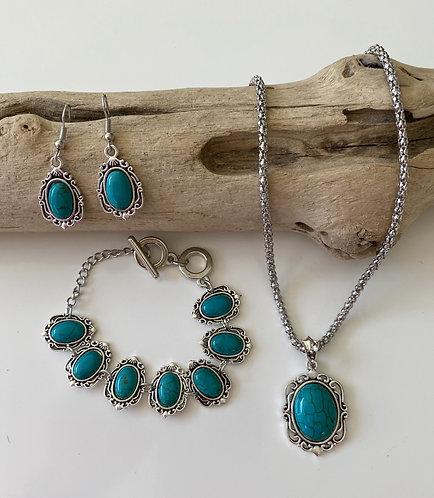 Turquoise Jewellery 3 Piece Set