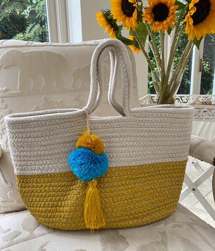 Pompom Day Bag - Handmade