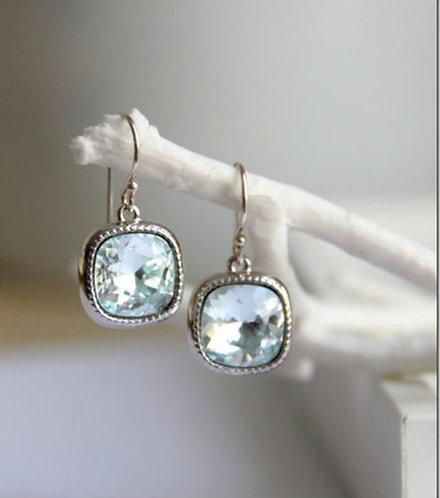 Stirling Silver Natural Gem Stone Earrings