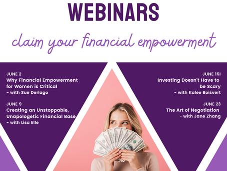 The Money Wise Webinars - Coming Soon
