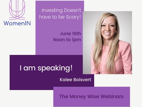 The Money Wise Webinars - this week with Kalee Boisvert