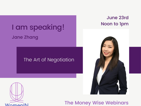 The Money Wise Webinars - this week with Jane Zhang