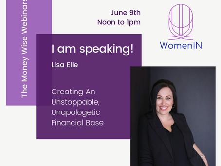 The Money Wise Webinars - this week with Lisa Elle