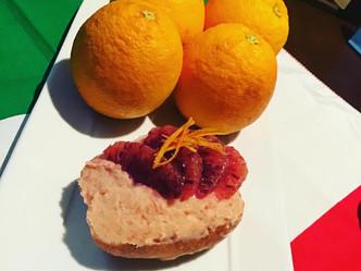 ブラッドオレンジのマリトッツォ終了です!