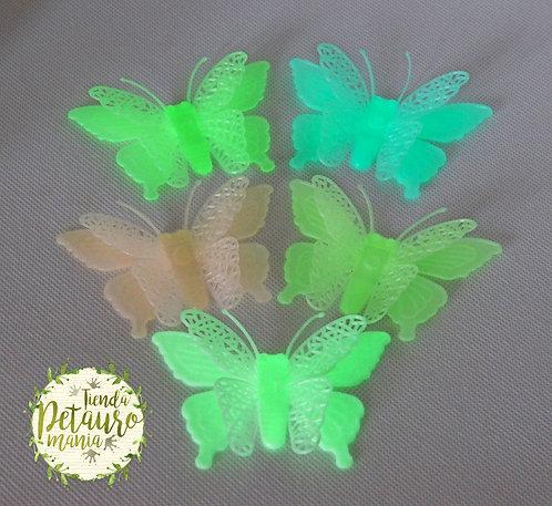 Mariposas 3D brillantes