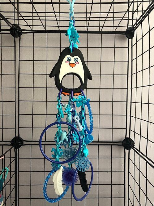 Juguete pingüino de goma