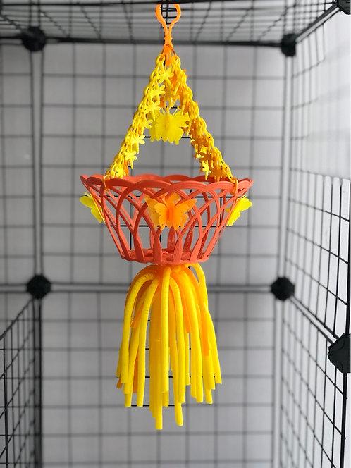 Juguete cesta colgante naranja
