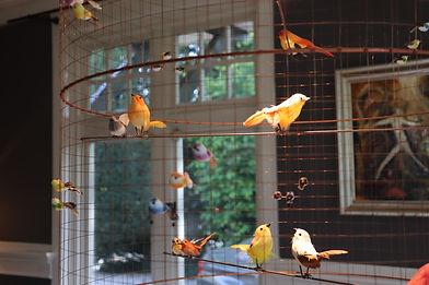 lamp met vogeltjes