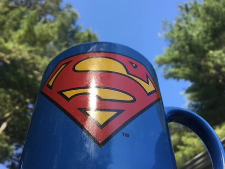 Why SUPERMAN Hung Up His Cape To Ride In A Pink Wagon!