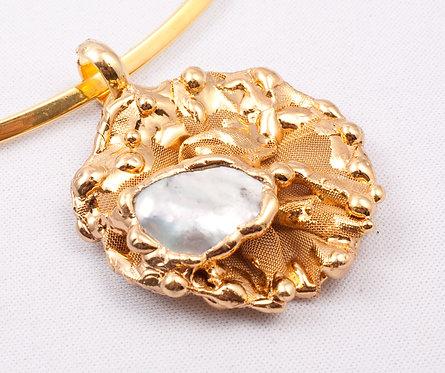 Pendente GARDENIA - perla bianca