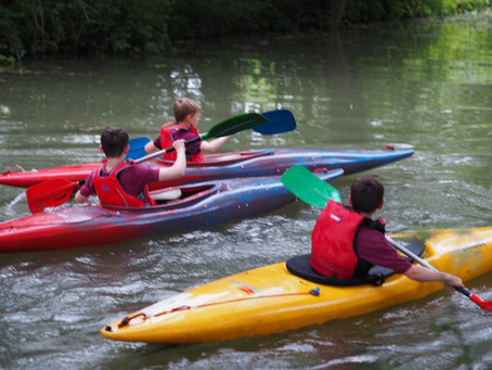 Canoeing Worting Scouts Style