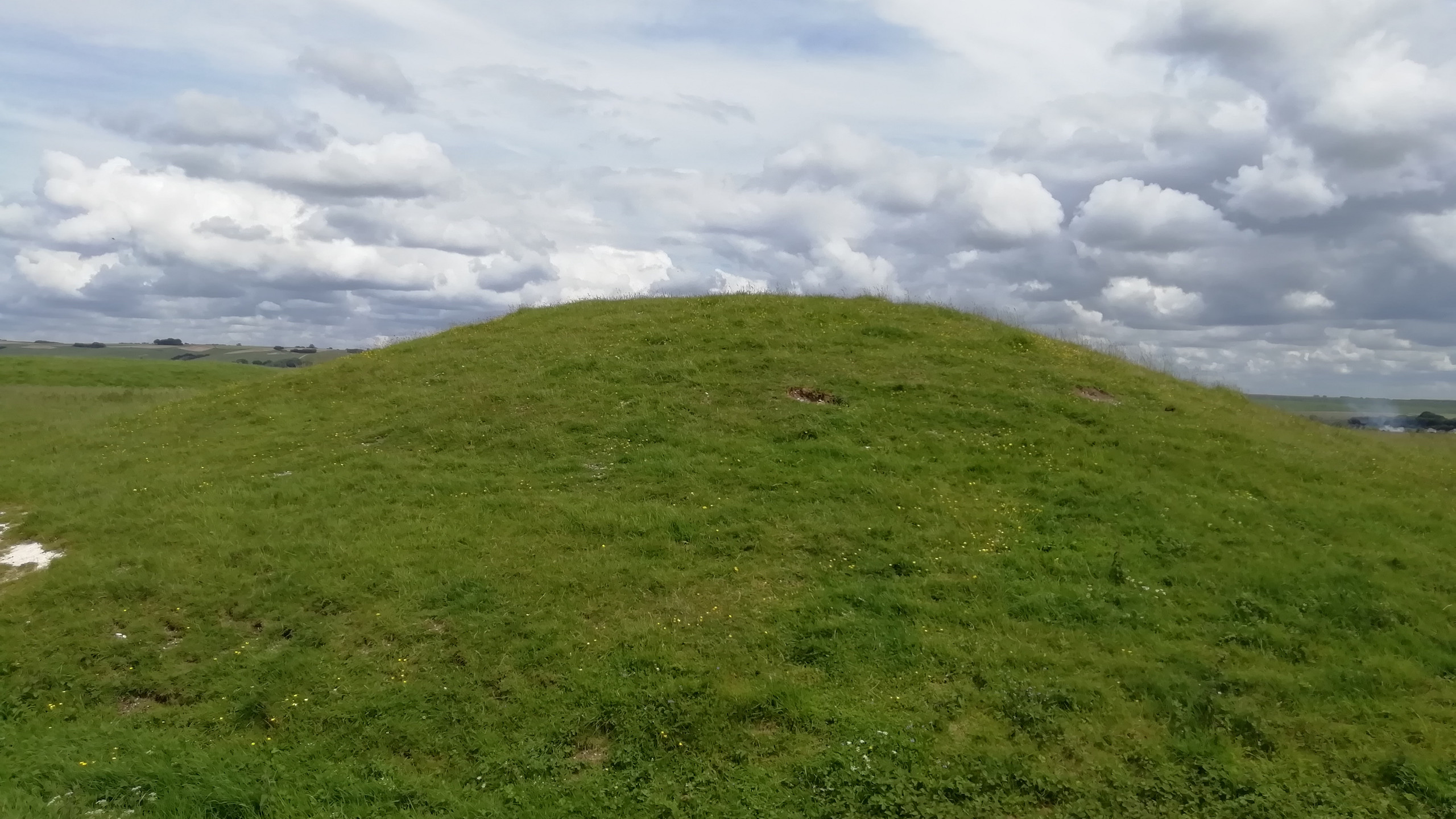 Burial mound on Windmill Hill