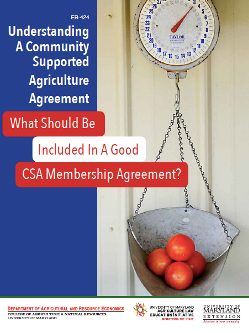 Understanding A Community Supported Agriculture Agreement