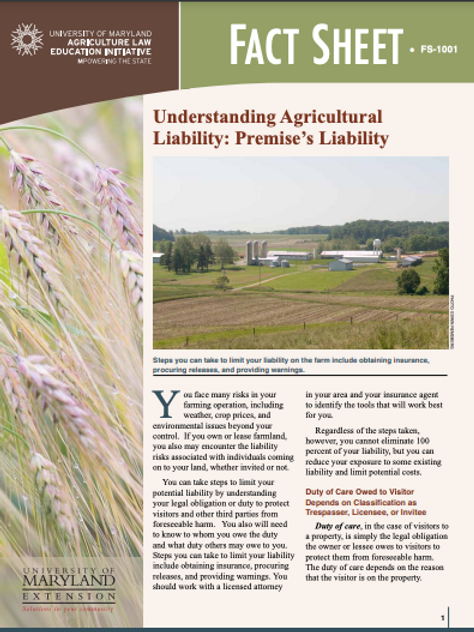 Understanding Agricultural Liability: Premise's Liability
