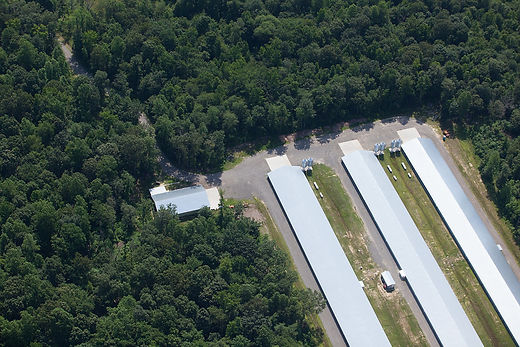 Aerial image of Maryland poultry operation.  Image by the Chesapeake Bay Program