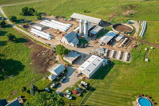 Aerial image of Maryland Dairy operation.  Image by Edwin Remsberg