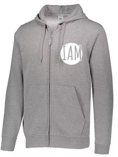 CASUAL Hooded ZIP Sweat Shirt (Heather/Black/Charcoal)