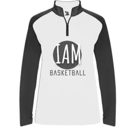 iamBASKETBALL (2025) G!RLS Game 1/4 Zip Shooting Shirt (20/21)