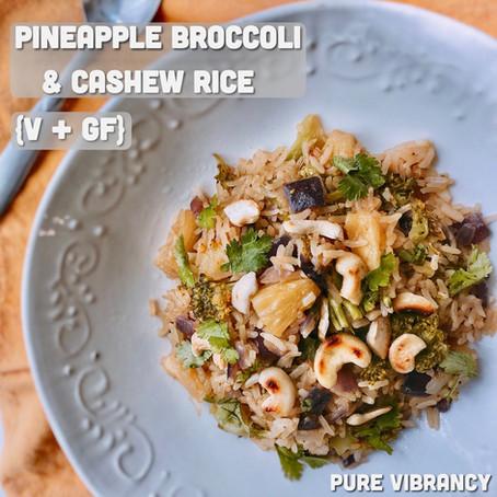 Pineapple Broccoli & Cashew Rice (V + GF)