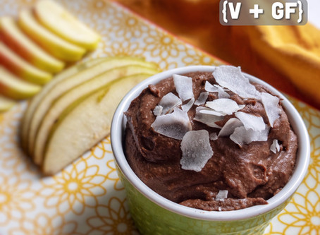 Chocolate Coconut Dessert Hummus (V + GF)