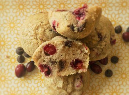 Vegan Cranberry Chocolate Chip Muffins (V)