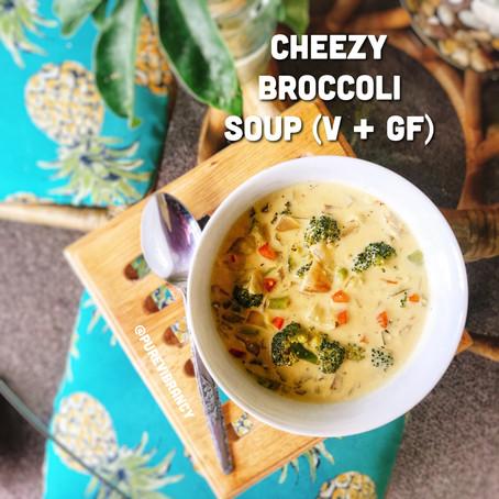 Cheezy Broccoli Soup (V + GF)