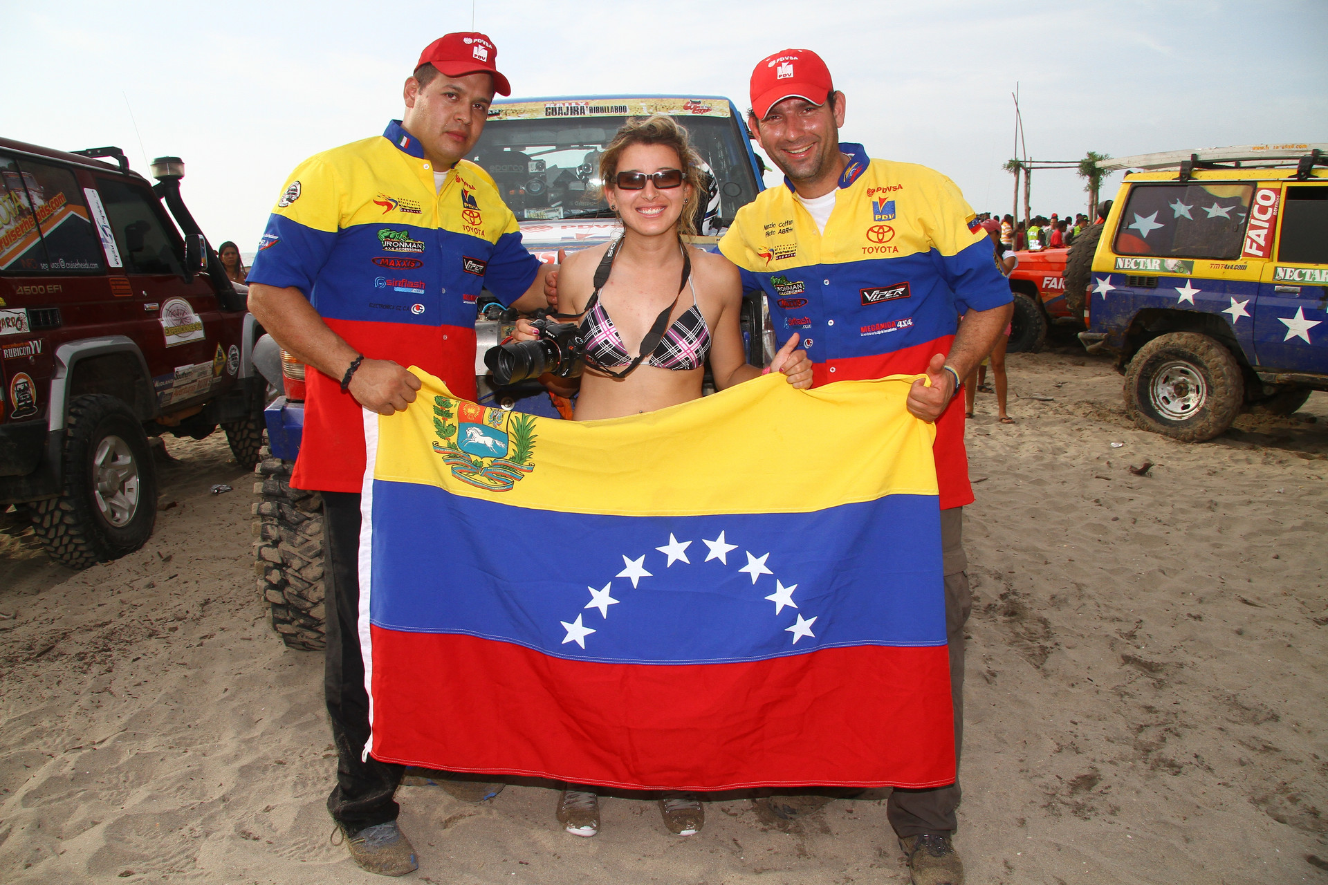 Rally Guajira colombia -team Venezuela