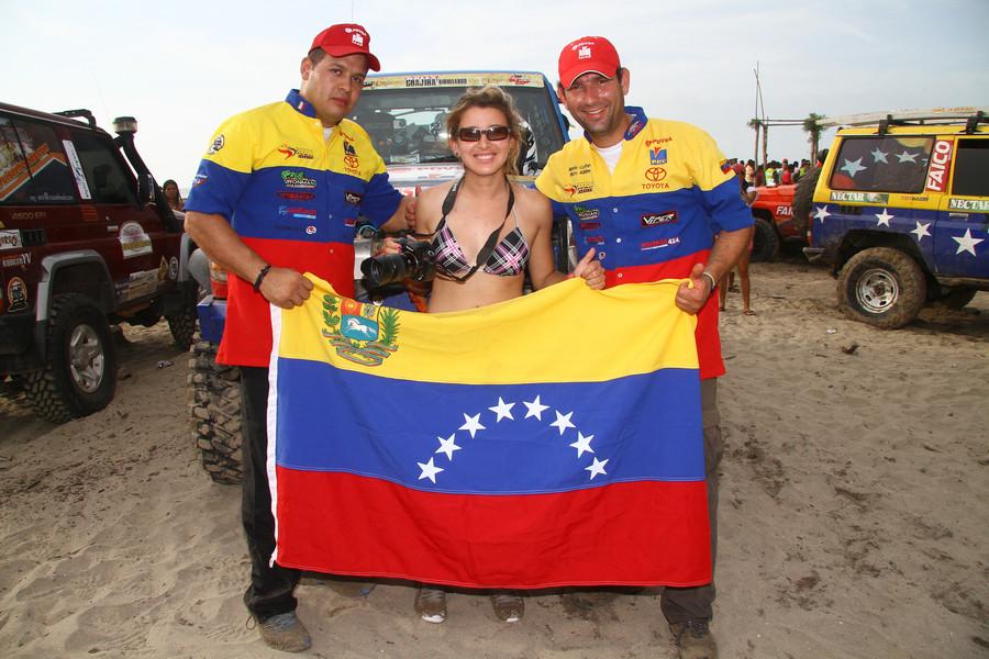Rally Guajira colombia -team Venezuela