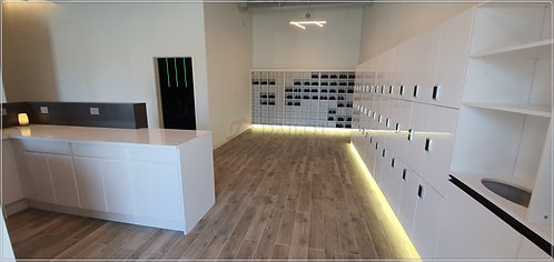 High Gloss White Color Wood Lockers