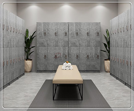 2020 New Design Wood Lockers with Marble Stone Laminated