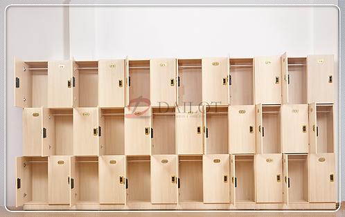 Electronic Wood Gym Lockers