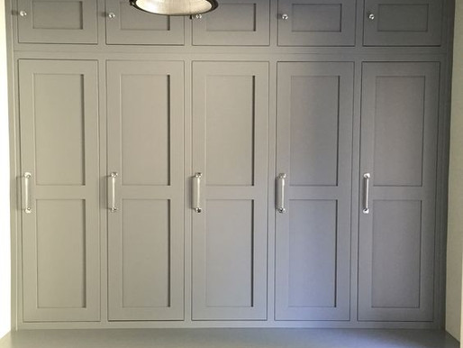 Wood Lockers with Doors for Mudroom