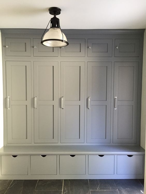 Wood Lockers with door for mudroom, doors design options, contact Dailot Furniture for more details.