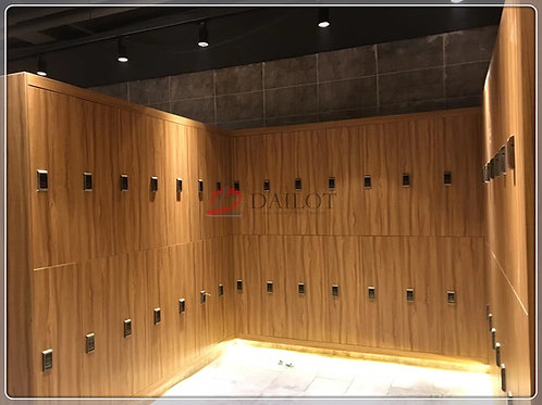 Dailot Gym Lockers Wood Grain with Digital Lock