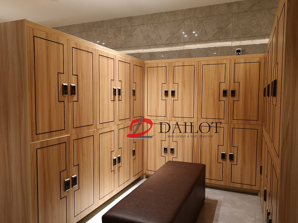 Dailot Wood Lockers can be with flexible designs to match your project