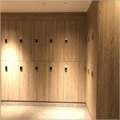 Hotel Gym Studio Lockers with Sense LED Lighting