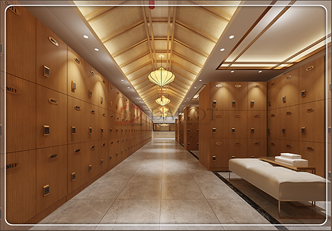 Hotel Spa Wood Lockers