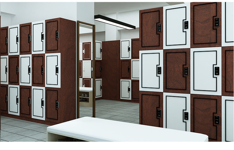 Wood Lockers with three tiers, widely used in gym clubs, Yoga Studio Center,etc.