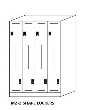 MZ- Z Shape gym lockers,eight doors lockers per set,hot sale for gym studio and fitness.