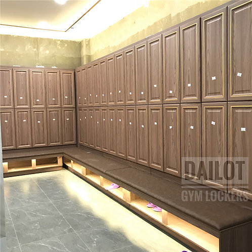 Factory Direct Wood Lockers with Bench