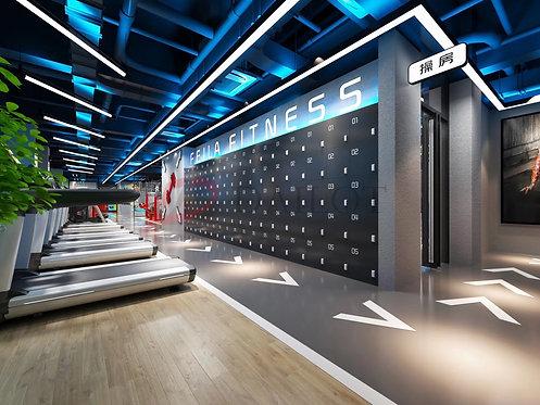 Black Color Gym Lockers