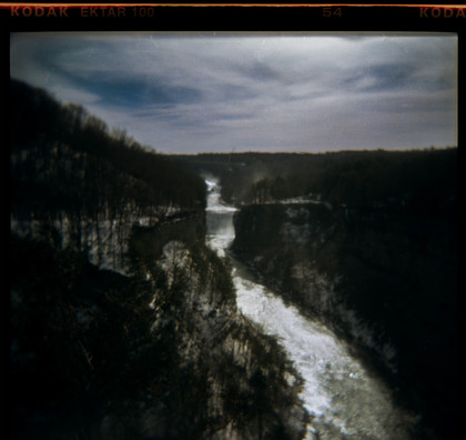 Letchworth Falls Through a Holga