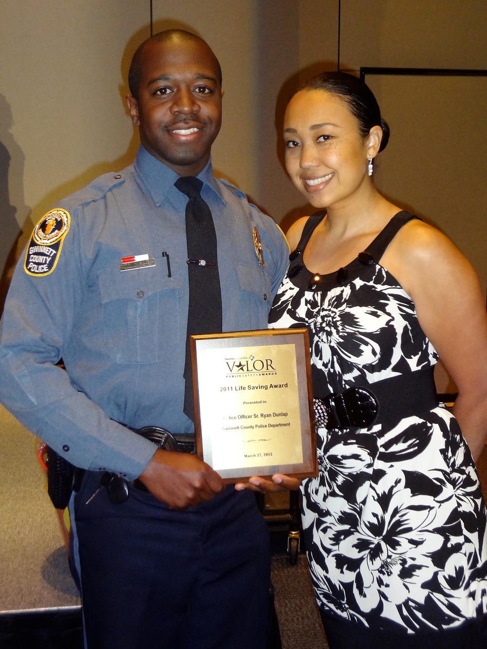 Police officer receives a life saving award