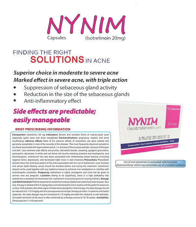 NYNIM Oral Isotretinoin marketing literature