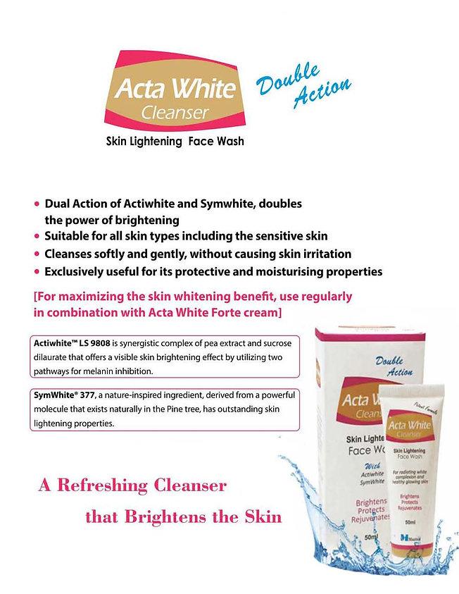 ActaWhite Cleanser Marketing literature