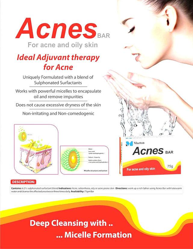 Acnes Bar marketing literature