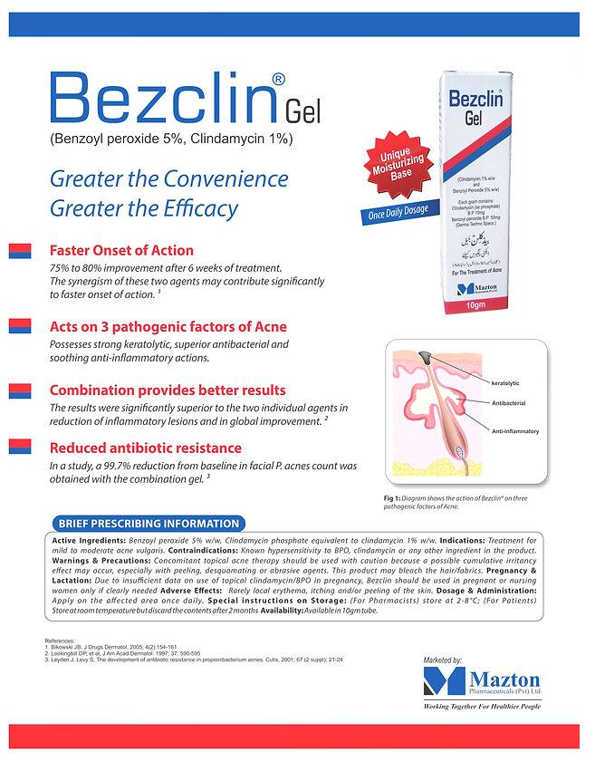 Bezclin Gel (benzoyl peroxide + Clindamycin) marketing Literature
