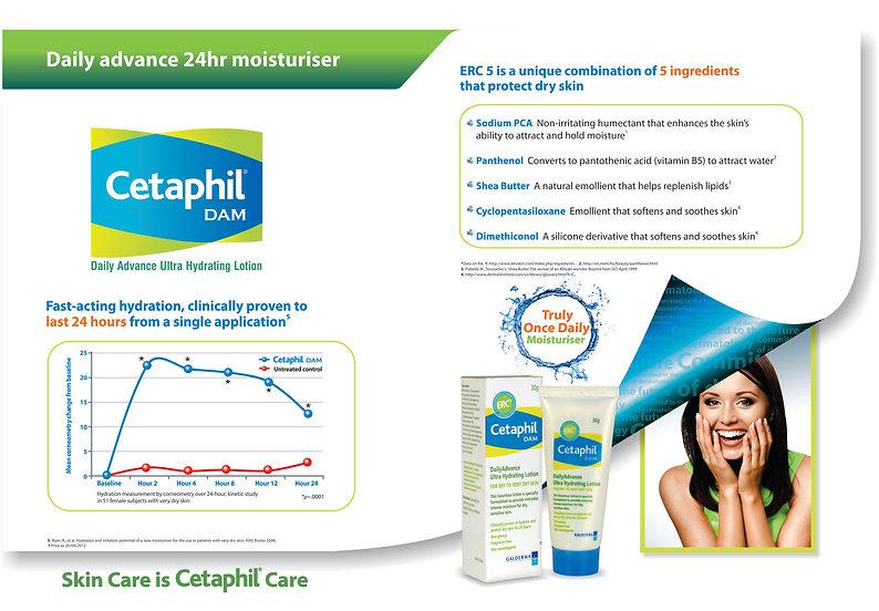 Cetaphil DAM marketing literature